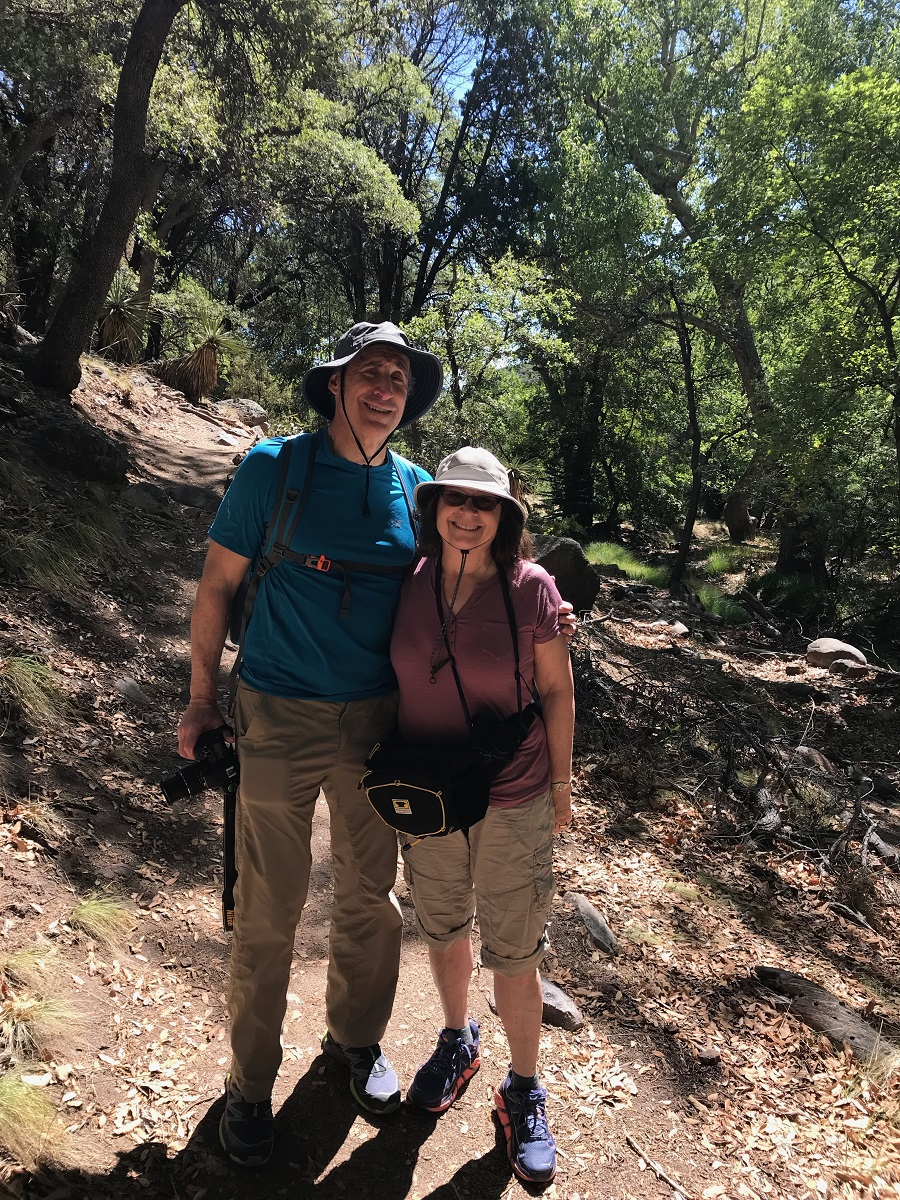 Sandy and Ira, Ramsey Canyon Preserve. Pictured in KÜHL SUN BLADE HAT, SONIA SS SHIRT and KONTRA SHORT
