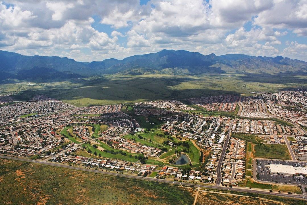 aerial photo of Sierra Vista