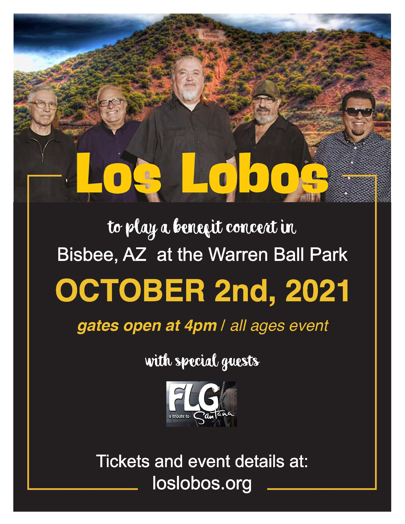 Los Lobos Concert Flyer