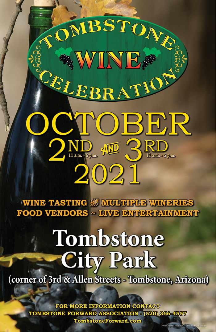 Tombstone wine poster
